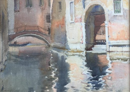 a painting of Venice canals by artist Vincent Robinson