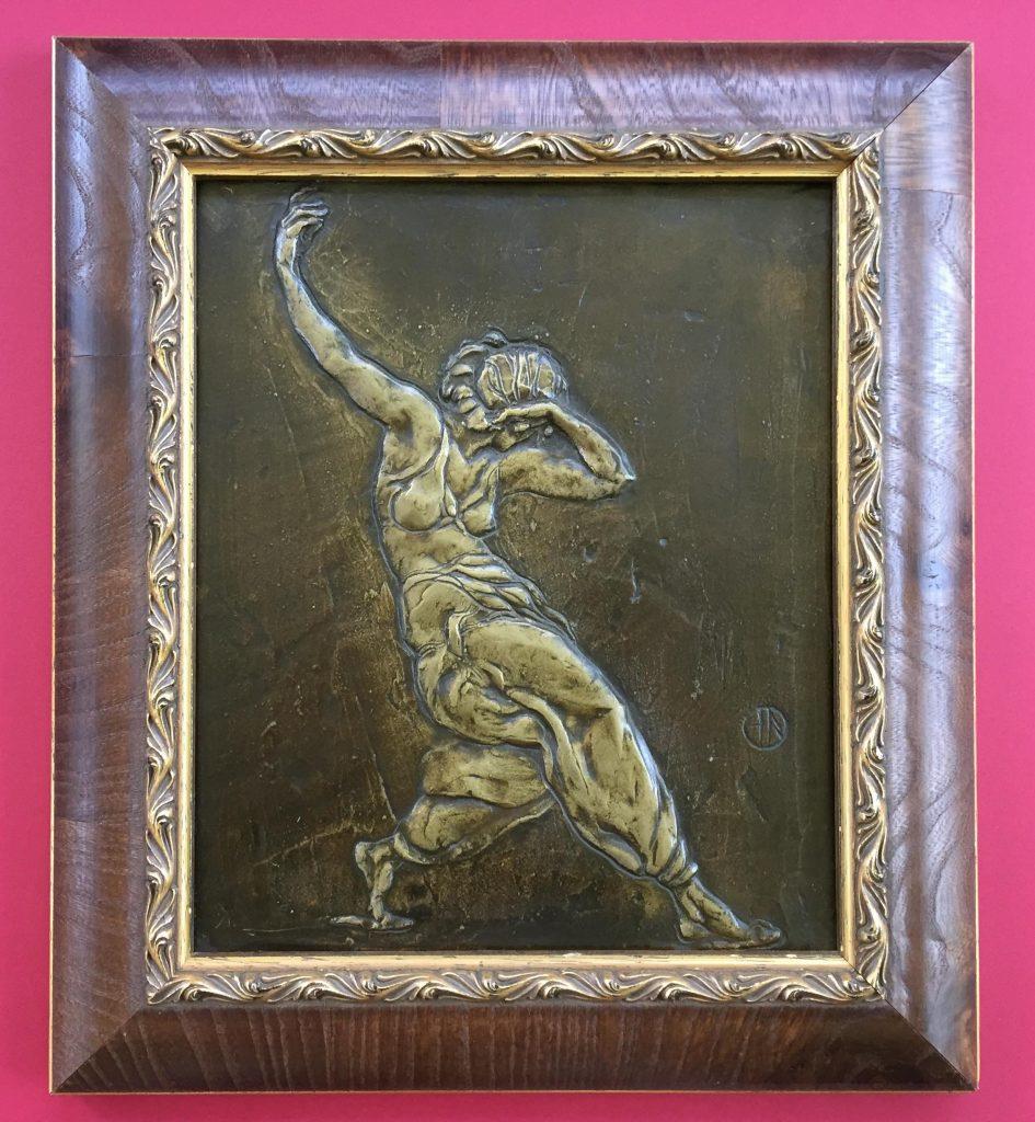 Bronze relief French sculpture by Henri Navarre