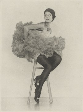 Arthur F. Kales. Can Can Dancer Seated on Stool 1920. Via getty