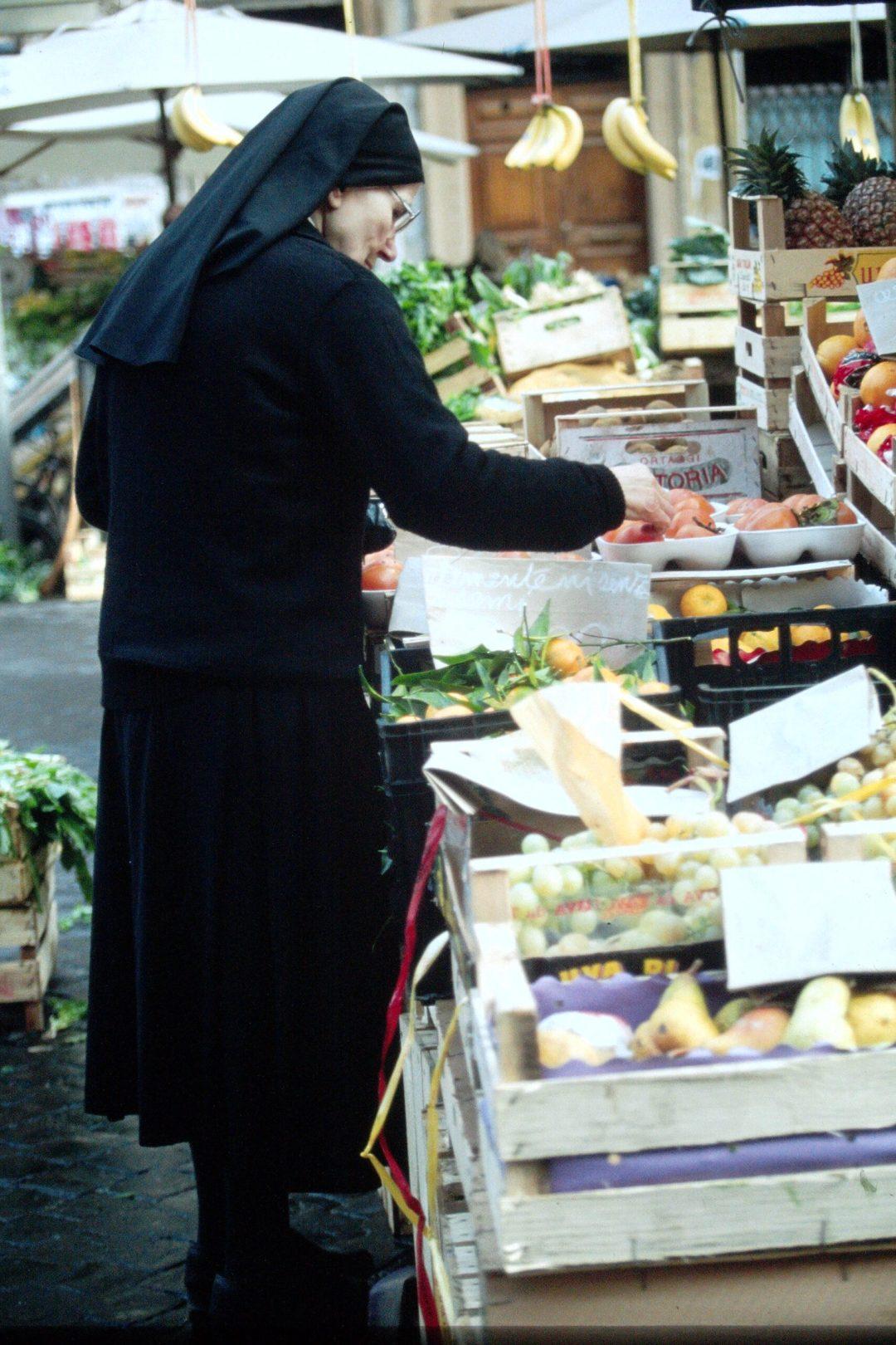 Nun at Market