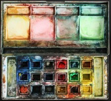 This is the first water colour box I ever bought. It was 1994 and I was in Architecture school.