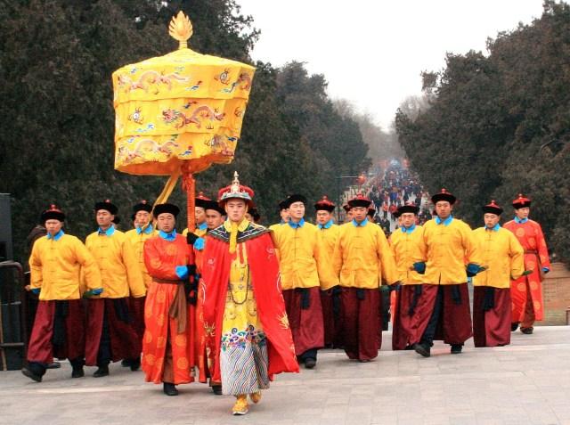 Ceremonie de Anul Nou Chinezesc la Templul Cerului din Beijing
