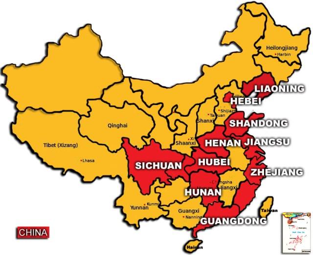 Top 10 – Cele mai bogate provincii ale Chinei