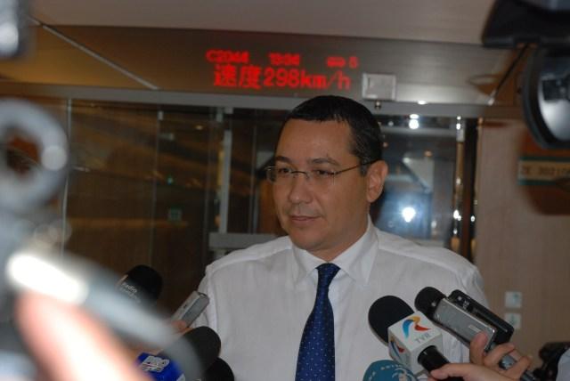 Premierul Victor Ponta 298 km ora cu trenul Tianjin Beijing, 02.09.2014-B