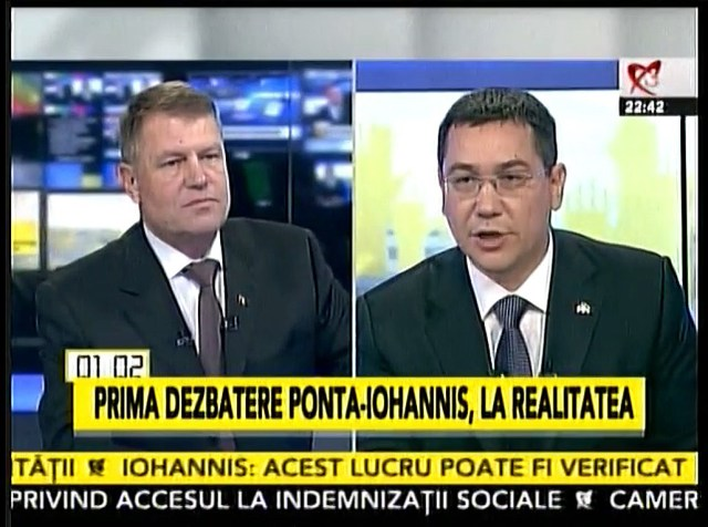 Confruntare Klaus Iohannis - Victor Ponta, 11.11.2014 cei doi