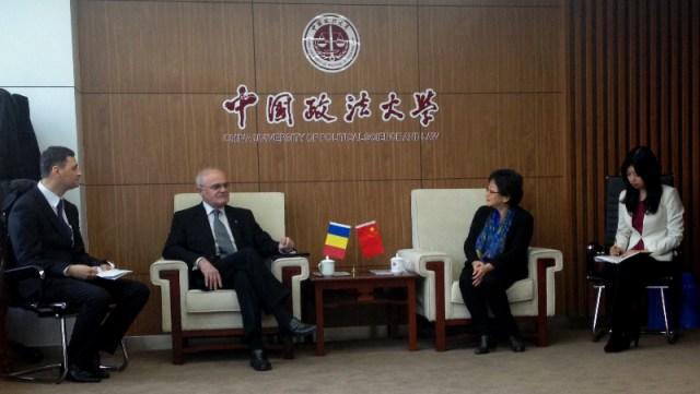 1 Reuniune universitara chino-romana, la Beijing