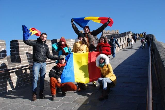 Tricolorul Romaniei pe Marele Zid, de Ziua Nationala 2014 B