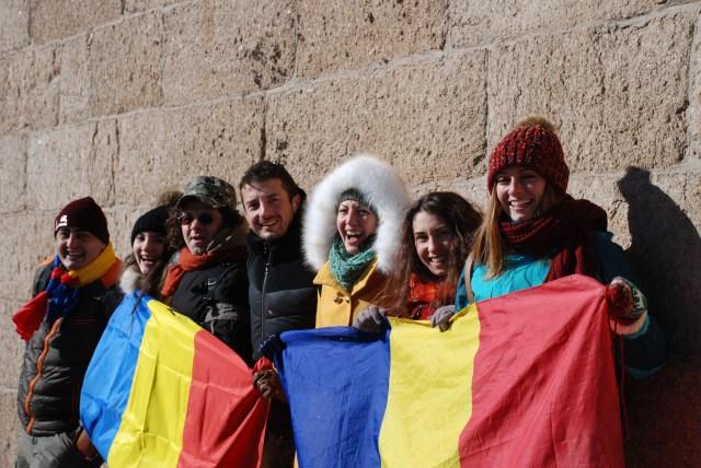 Tricolorul Romaniei pe Marele Zid, de Ziua Nationala 2014 C