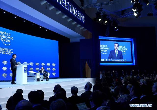 Li Keqiang, Davos 2015 D