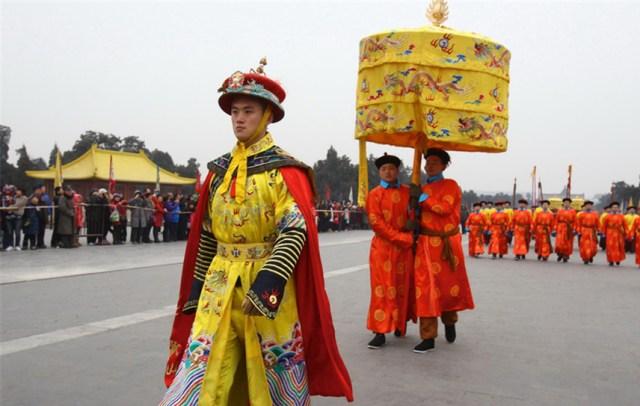 Ceremonial imperial la Templul  Cerului din Beijing, februarie 2015 E