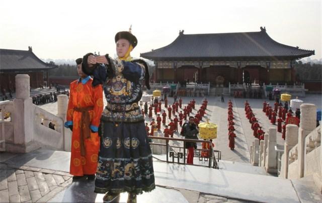 Ceremonial imperial la Templul  Cerului din Beijing, februarie 2015 G