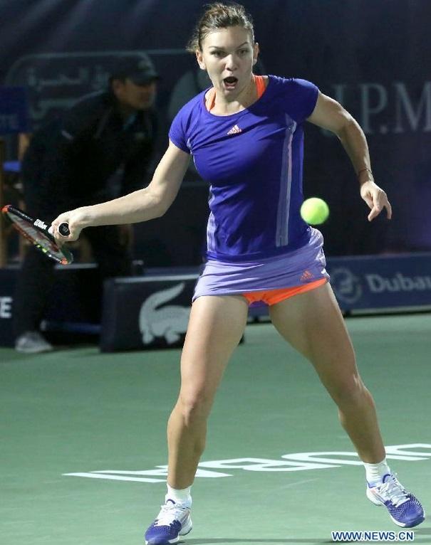 Halep a invins-o pe Pliskova la WTA Dubai 3