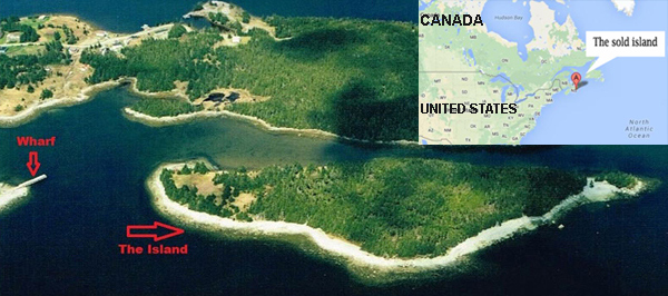 Insula din Canada cumparata de un milionar chinez
