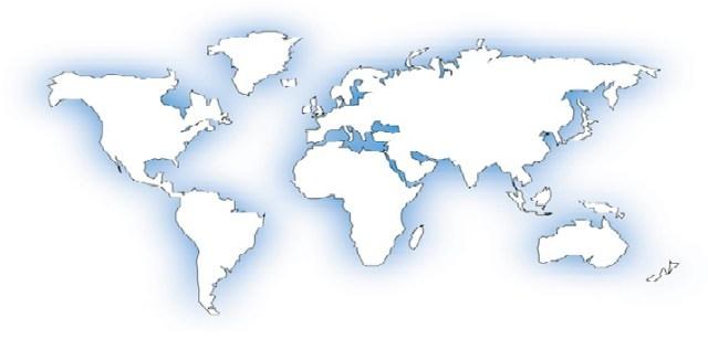Harta lumii alb