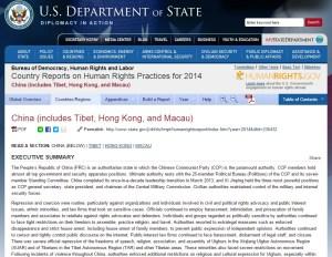 Raport Drepturile Omului SUA despre China 2014