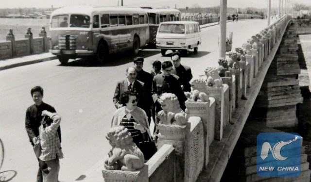 Dr. David Iancu, la Podul Marco Polo in 1979