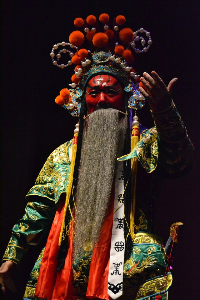 Actor de opera traditionala Huizhou la Huangshan