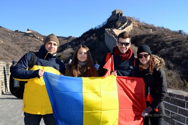 Tricolorul Romaniei la Marele Zid de 1 decembrie 2016 Aa