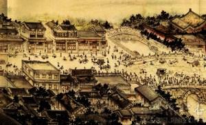 Podul Houmen din Beijing  litografie