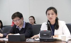 Wen Jing, dreapta - Qujiang Xi'An