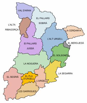 Comarques de Lleida