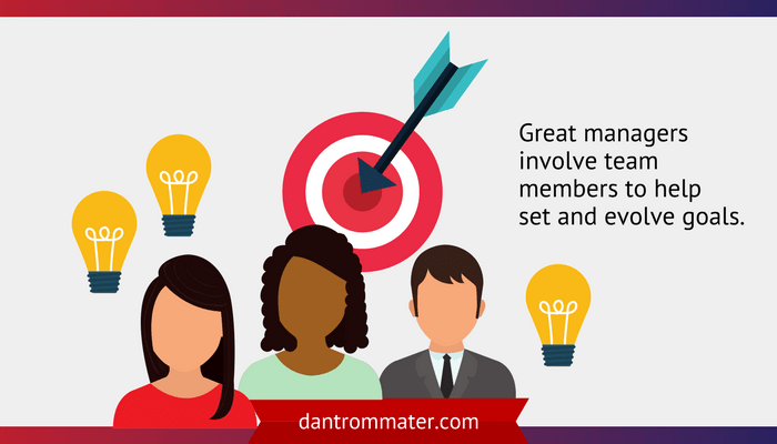 Involve your team in developing goals