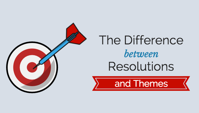 The Difference Between Resolutions and Themes