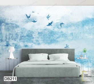 tranh dán tường chim bay