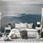 Tranh Dán Tường Sương Mù Phủ Núi - DA942