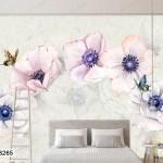 Tranh Dán Tường Những Bông Hoa Toả Hương Sắc - DB265