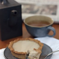 Earl grey and vanilla panna cotta in almond spelt Pâte Sablée tartelettes