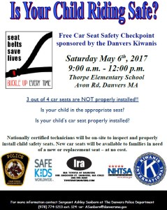 Car Seat Safety Checkpoint @ Thorpe Elementary School | Danvers | Massachusetts | United States