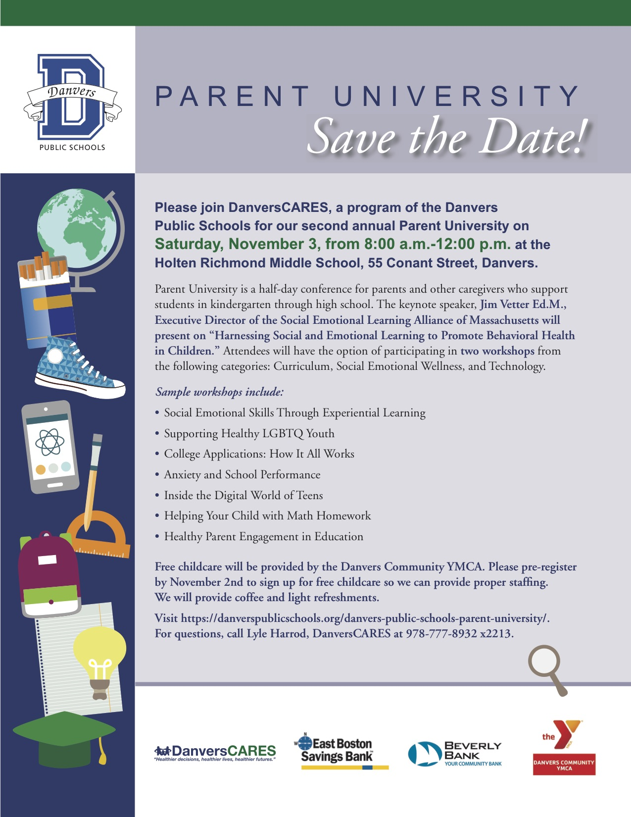 Parent Workshop In Wakefield March 11th >> Parent University 2018 Danvers Public Schools