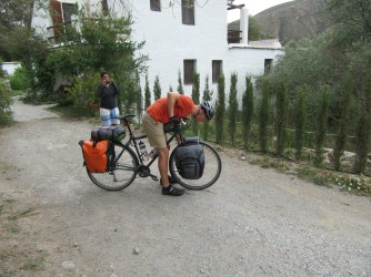 Fiddling with rubbish disc brakes