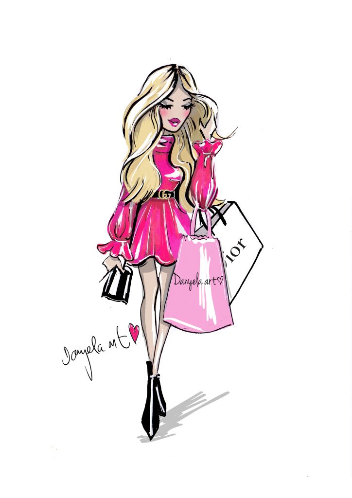 FASHION ILLUSTRATION     Danyelaart com Custom design  cartoons  logos  business cards  prints  paintings and  wallpainting in your home and offices is available  Shop my designs prints  here or