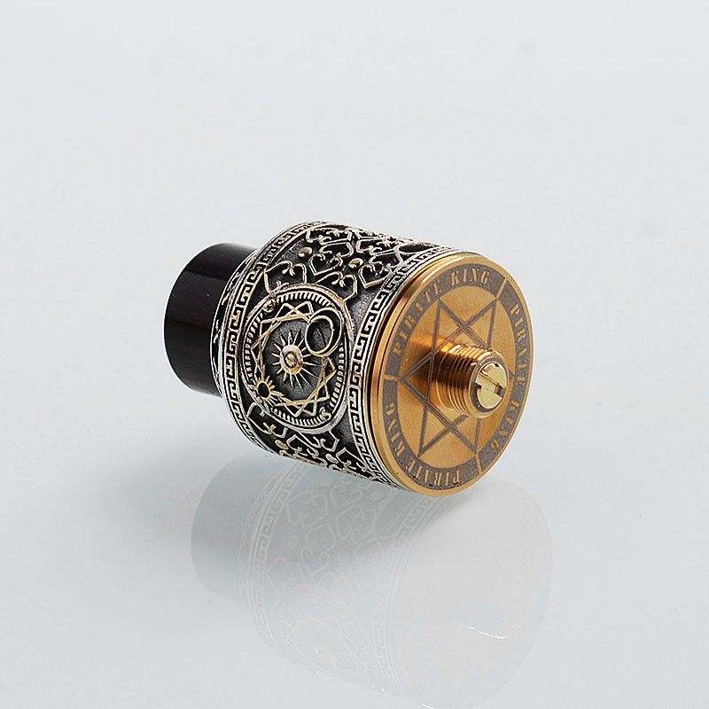 authentic-riscle-pirate-king-rda-rebuildable-dripping-atomizer-w-bf-pin-silver-cupronickel-stainless-steel-24mm-diameter