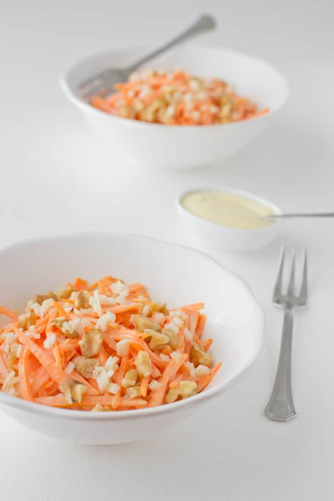 ensalada vegana de zanahoria via danzadefogones.com