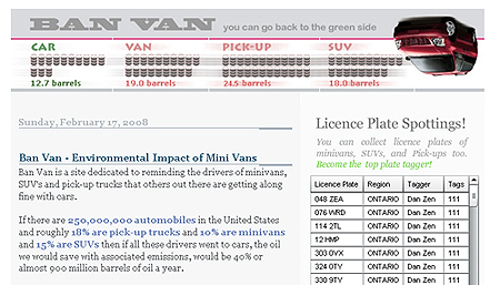Ban Van Environmental Blog