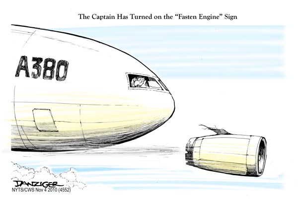 a380 engine failure quantas political danziger cartoons