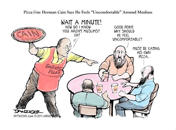 Herman Cain cartoon