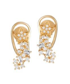 18 KARAT YELLOW GOLD EARRINGS WITH 0.30 KT DIAMONDS