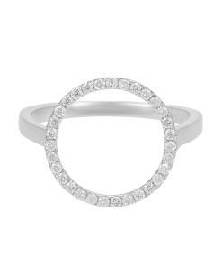 Daoro Jewelry 18 KARAT WHITE GOLD. 2.1 GR 0.25 KT DIAMONDS