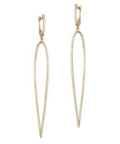 Daoro Jewelry 18 KARAT ROSE GOLD EARRINGS WUTH 0,62 KT DIAMONDS