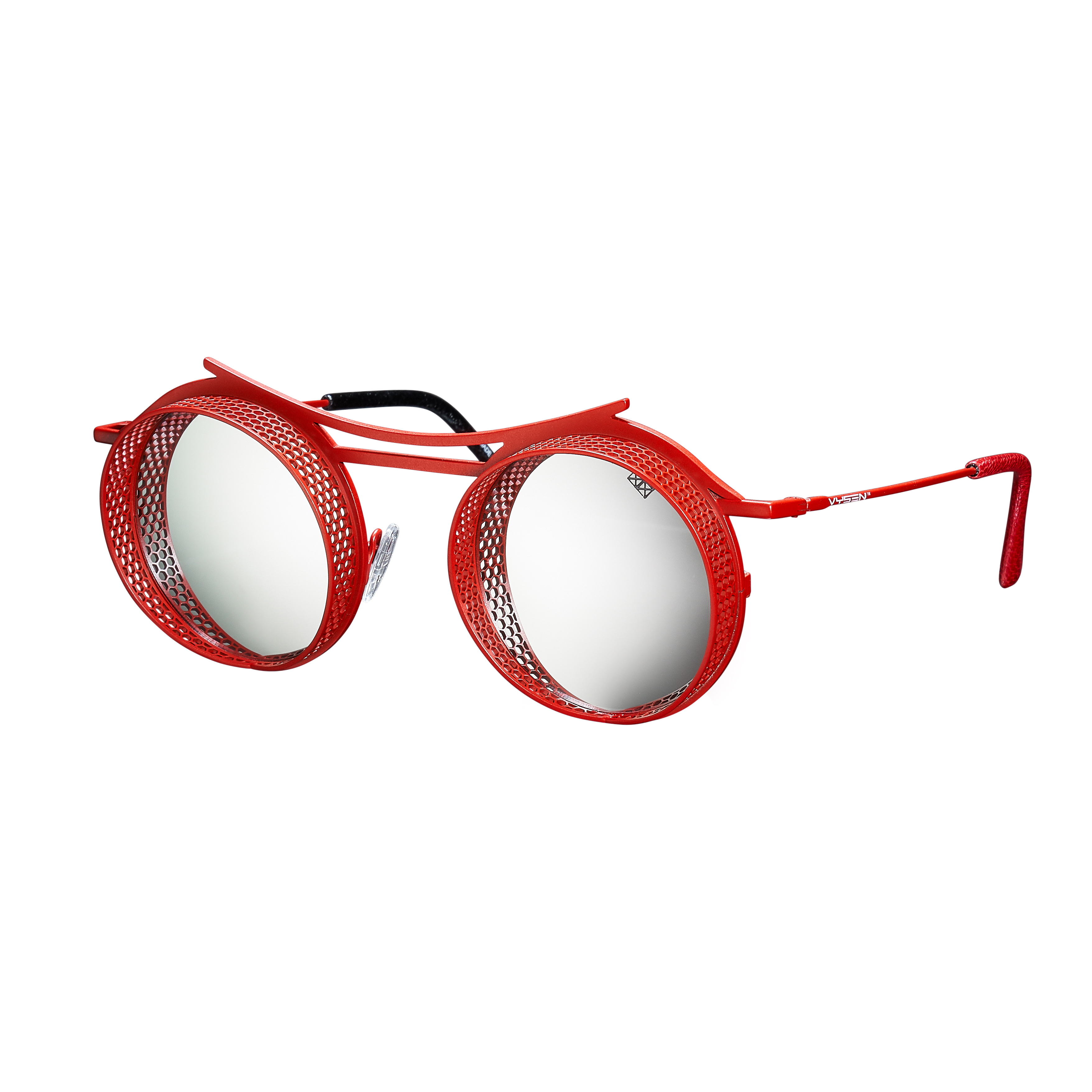 ONIX - Limited Edition - Red Matte Frame - Silver Mirror Lenses