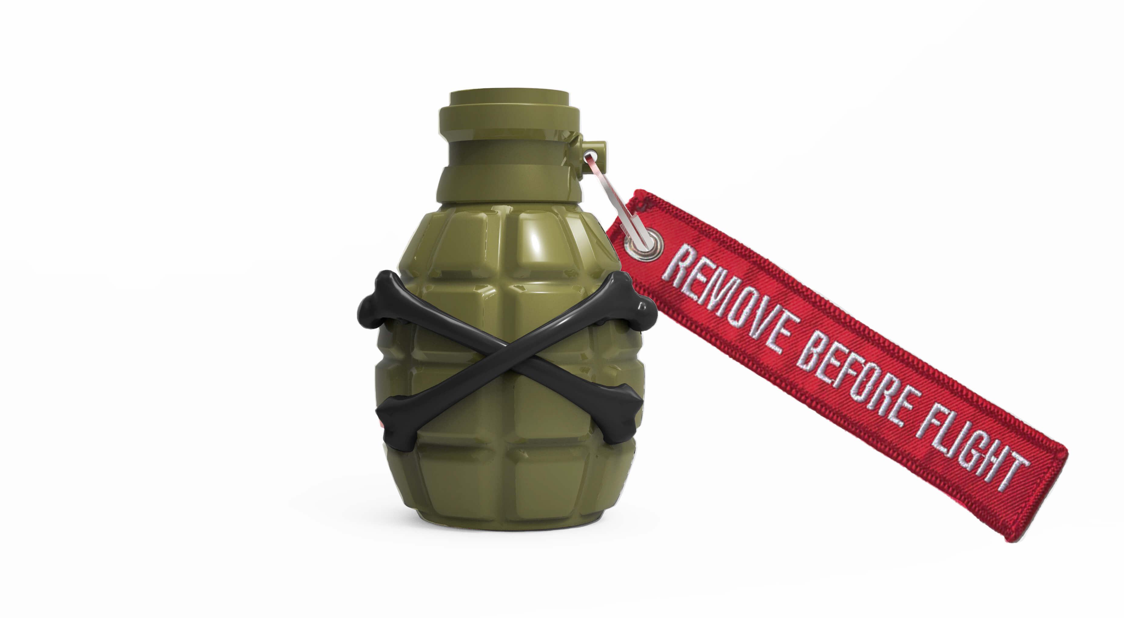 Grenade Sculpture Military Green