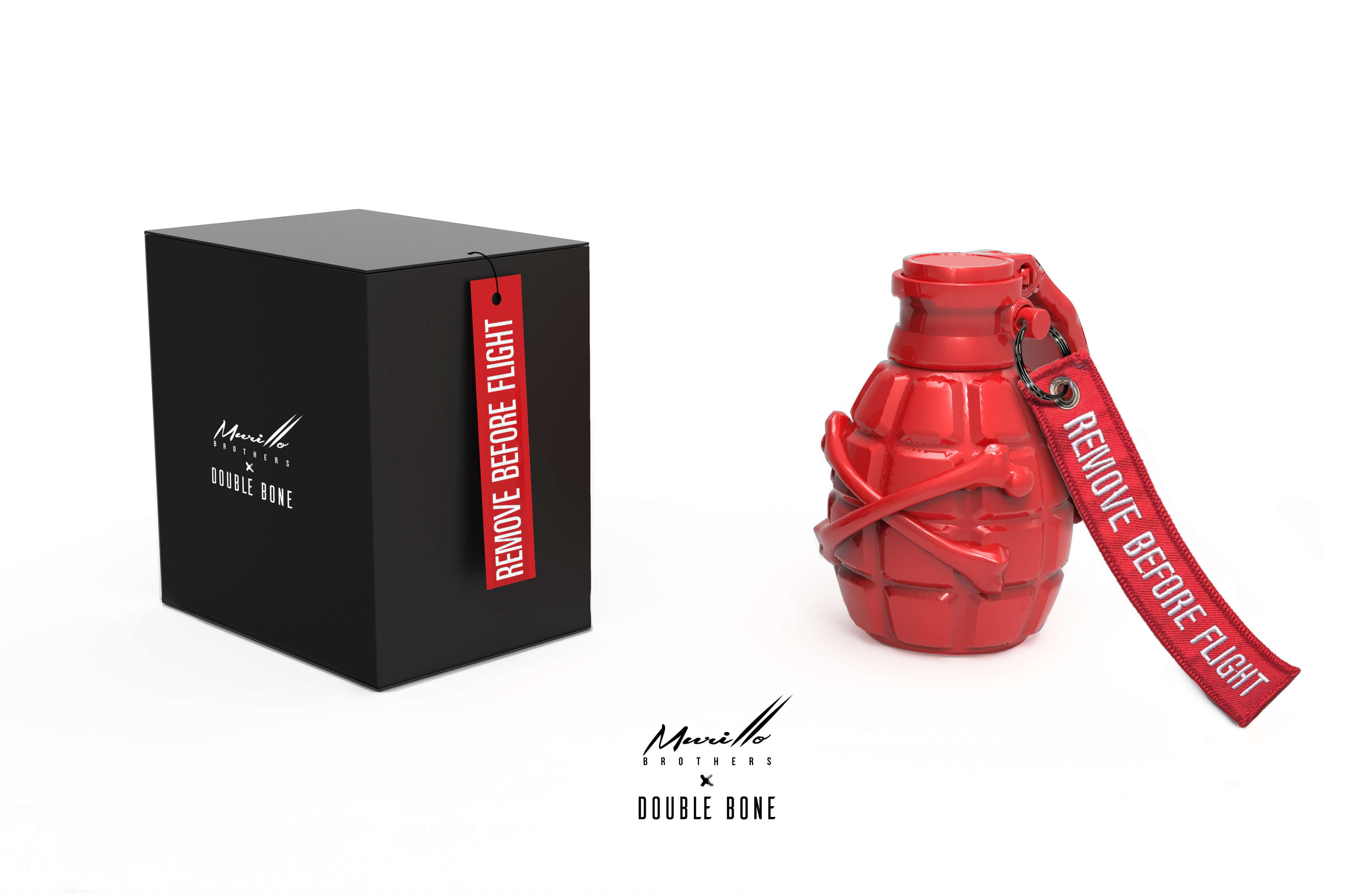 Grenade Sculpture Solid Red