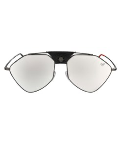 LETEC-LT2S -Gun Metal Frame - Silver Mirror Lenses + Black Leather