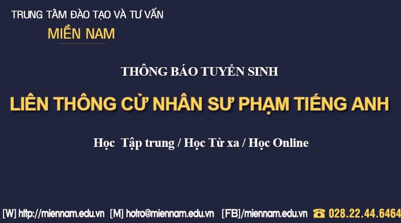 Liên thông Đại học Sư phạm Tiếng Anh tại TPHCM
