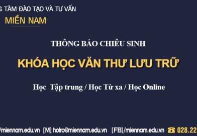 Khóa học Chứng chỉ Văn thư lưu trữ tại TP Hồ Chí Minh