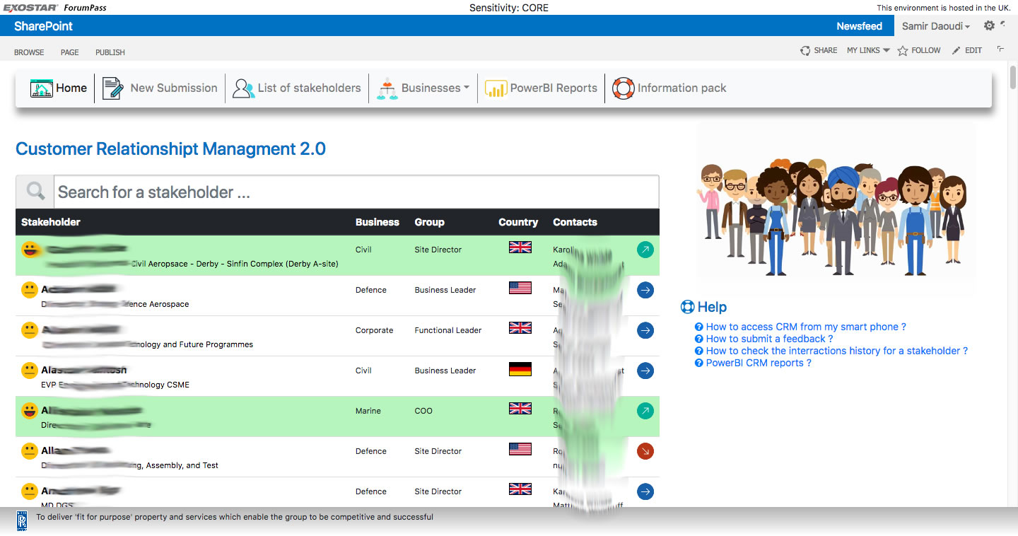 CRM Feed Back in SharePoint   Using BootStrap, SP JS